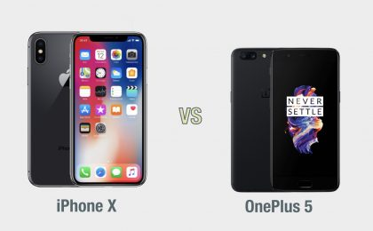 iPhone X vs OnePlus 5: il confronto