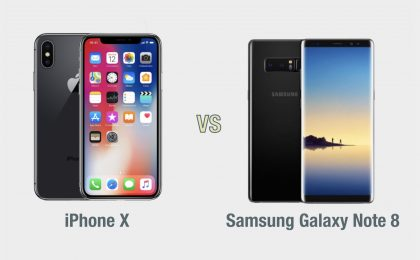 iPhone X vs Samsung Galaxy Note 8: il confronto