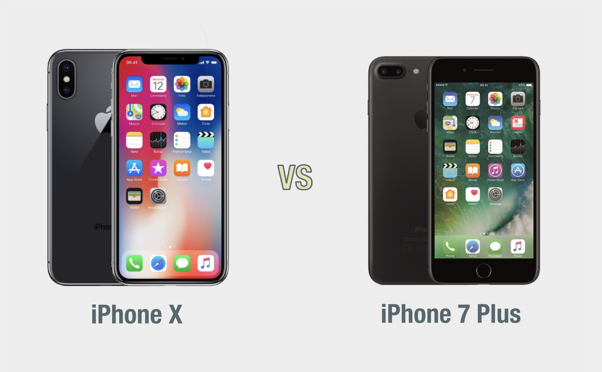 iPhone X vs iPhone 7 Plus: il confronto