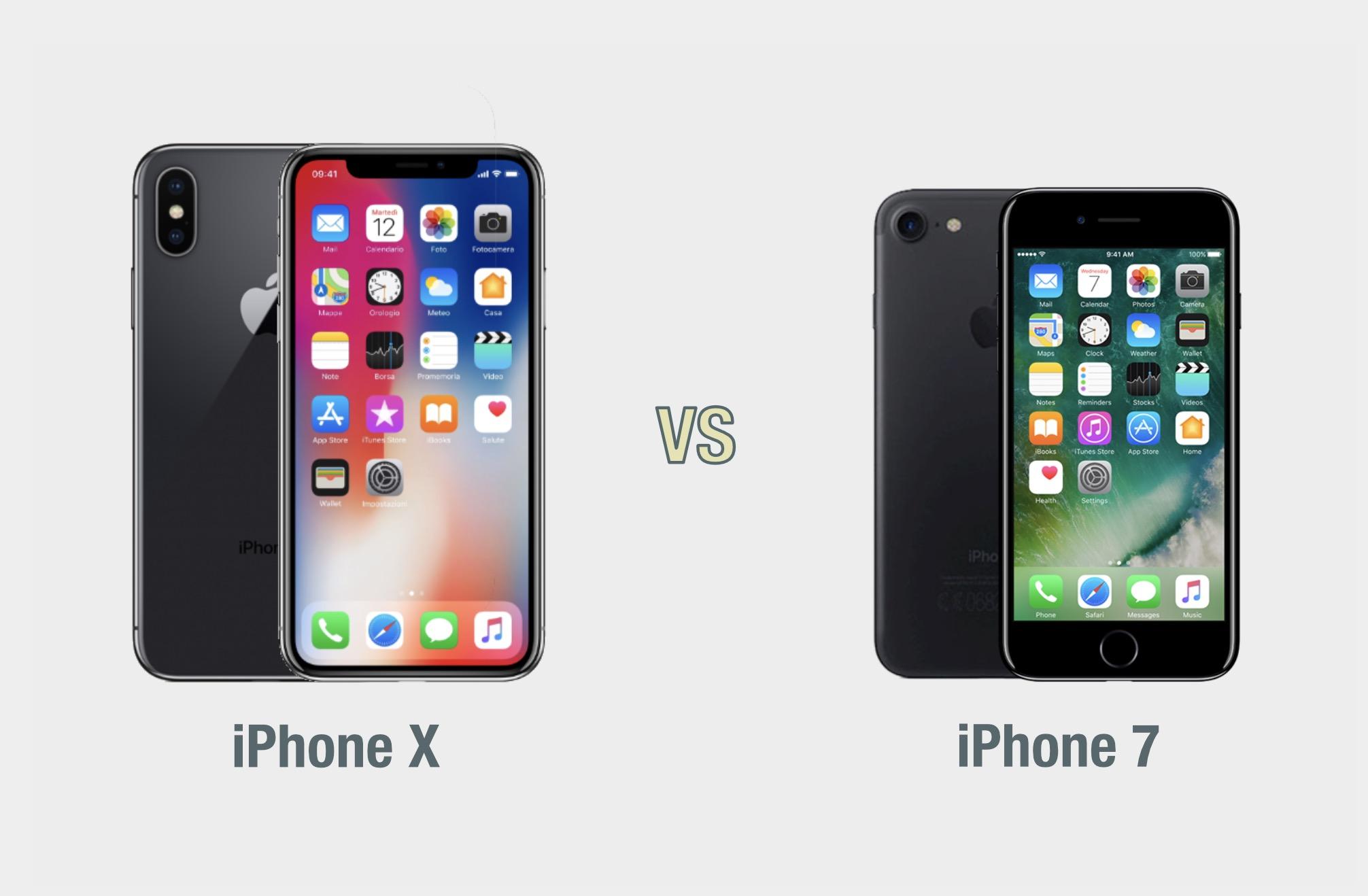 Iphone X Vs Iphone 7 Il Confronto Tecnocino