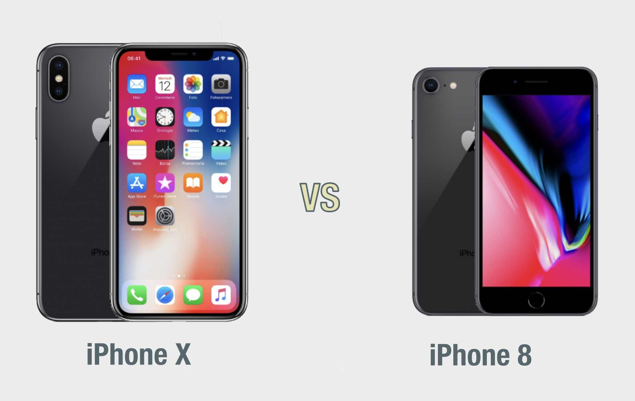 iPhone X vs iPhone 8: il confronto