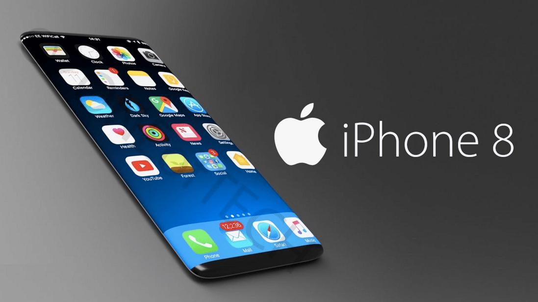 iphone 8 immagine concept tutto in vetro