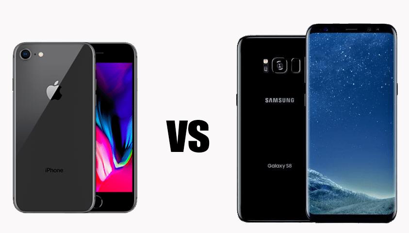 iPhone 8 vs Samsung Galaxy S8: il confronto