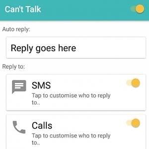 WhatsApp risposte automatiche, con Can't Talk si può