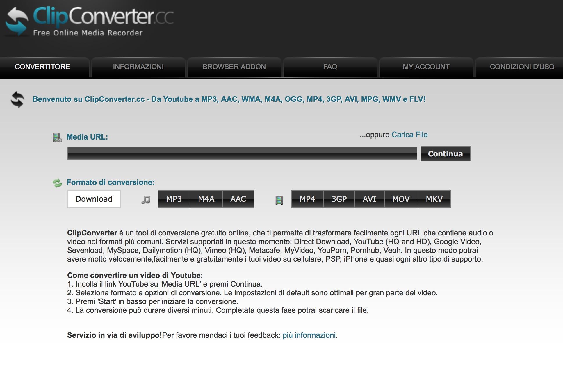 ClipConverter scaricare video Facebook