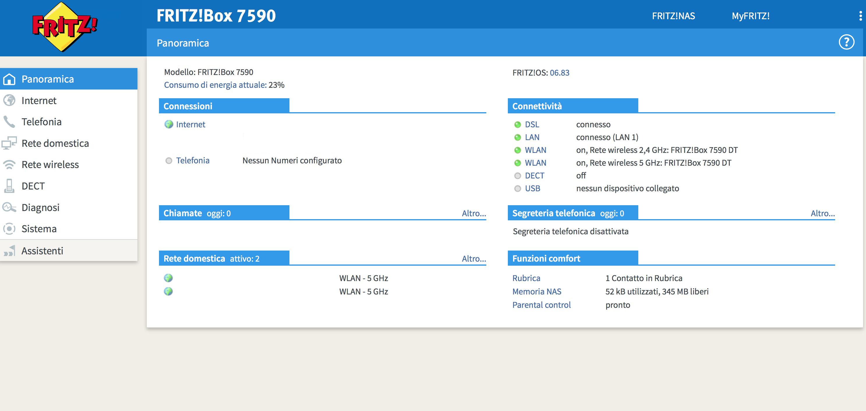FRITZOS 6.83 di FRITZ!Box 7590