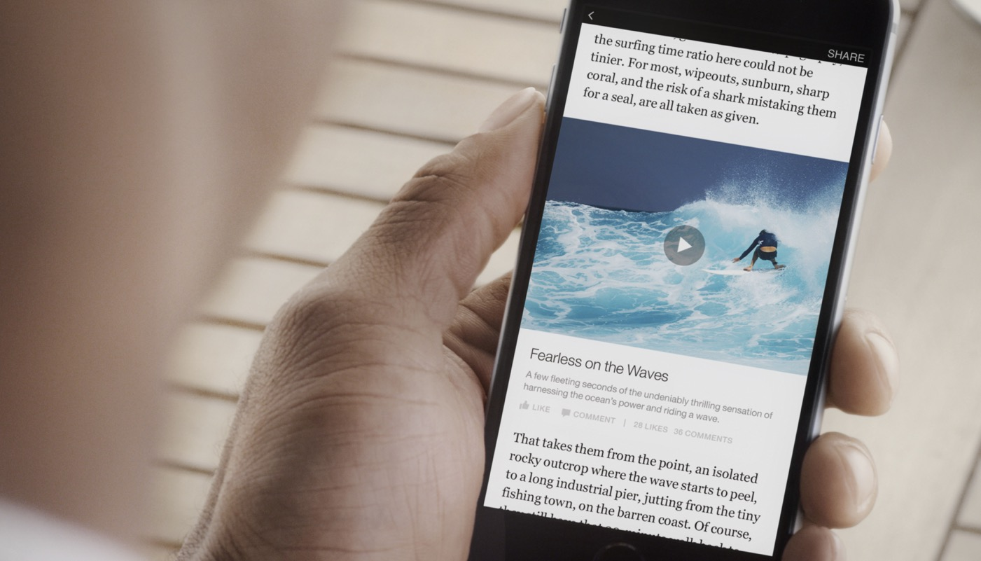 Facebook Instant Articles a pagamento
