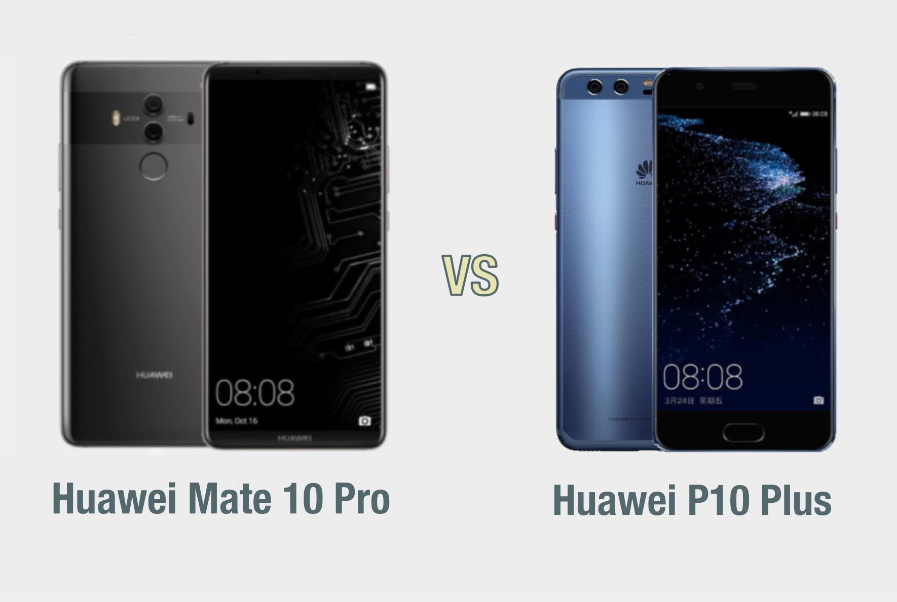 Huawei Mate 10 vs Huawei P10 Plus: il confronto