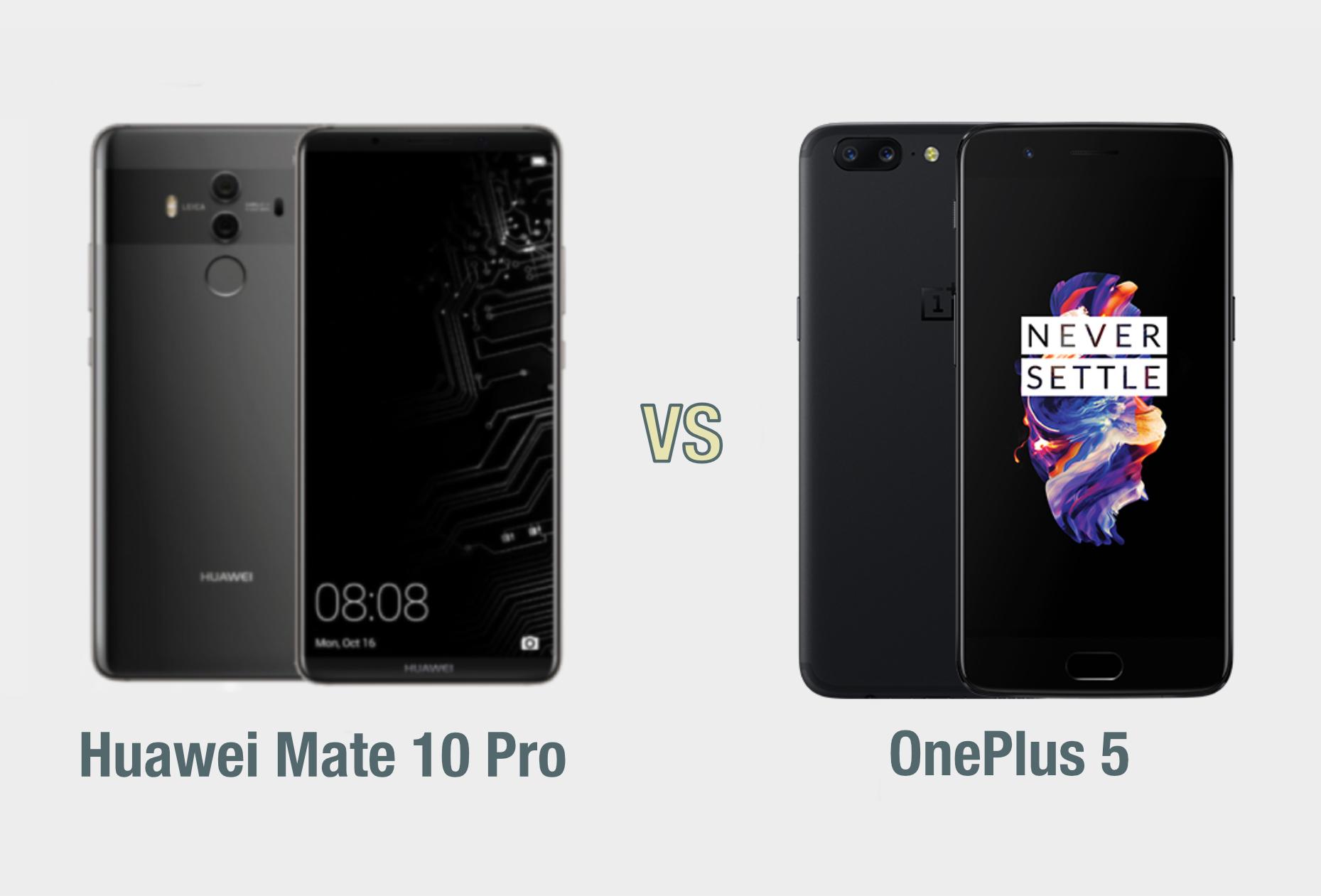 Huawei Mate 10 Pro vs OnePlus 5: il confronto