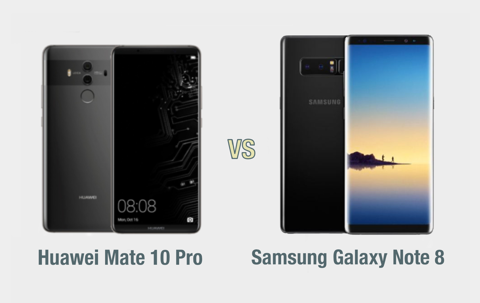 Huawei Mate 10 Pro vs Samsung Galaxy Note 8: il confronto