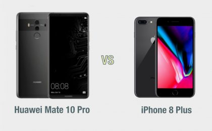 Huawei Mate 10 Pro vs iPhone 8 Plus: il confronto