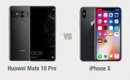 Huawei Mate 10 Pro vs iPhone X: il confronto