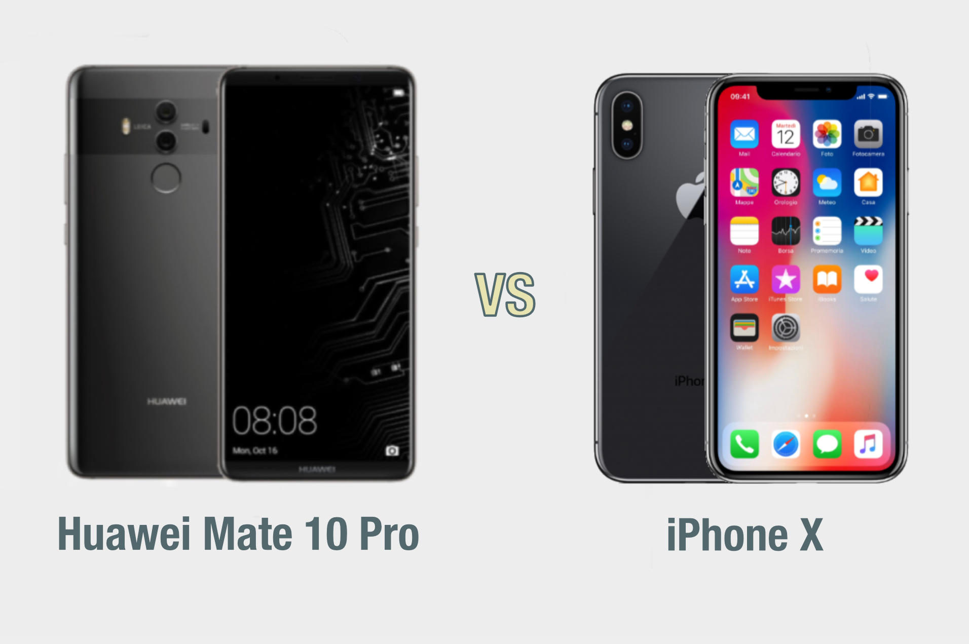 Huawei Mate 10 Pro vs iPhone X: il confronto