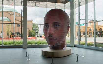 La scultura selfie 3D gigante: il ritratto 2.0