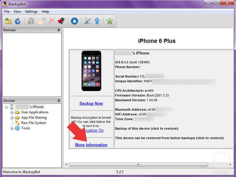 Stato batteria iPhone