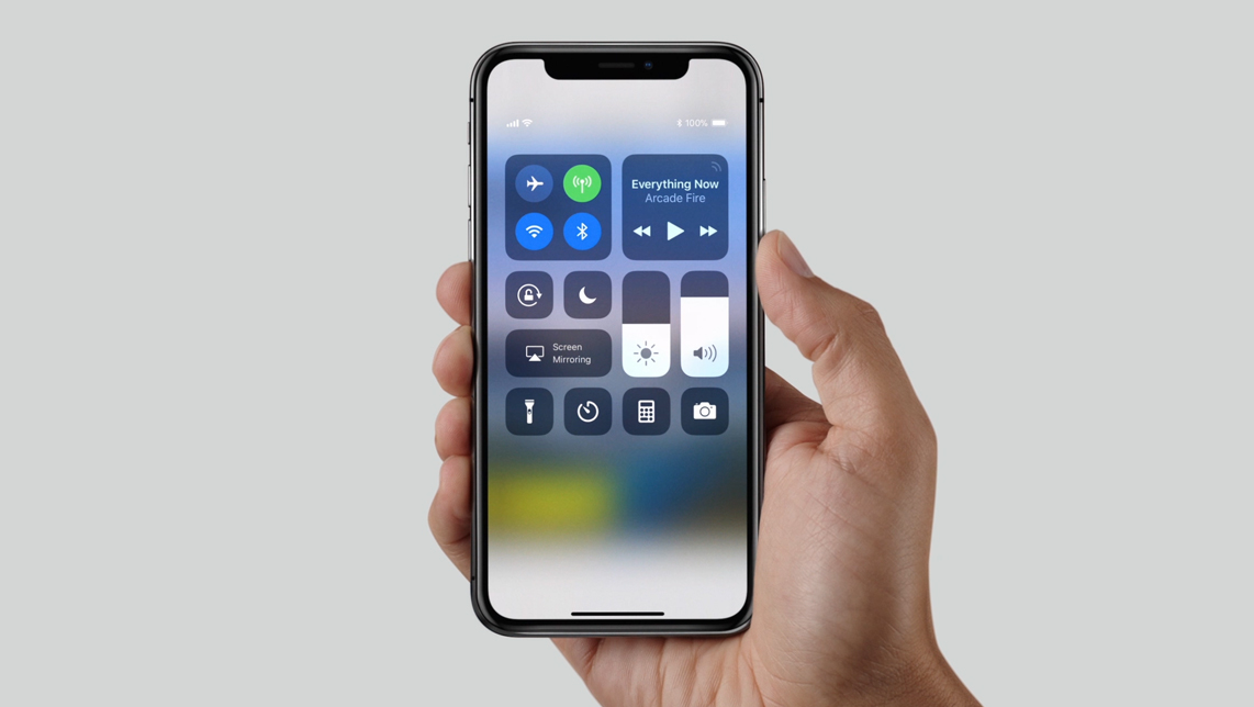 iPhone X sistema operativo iOS