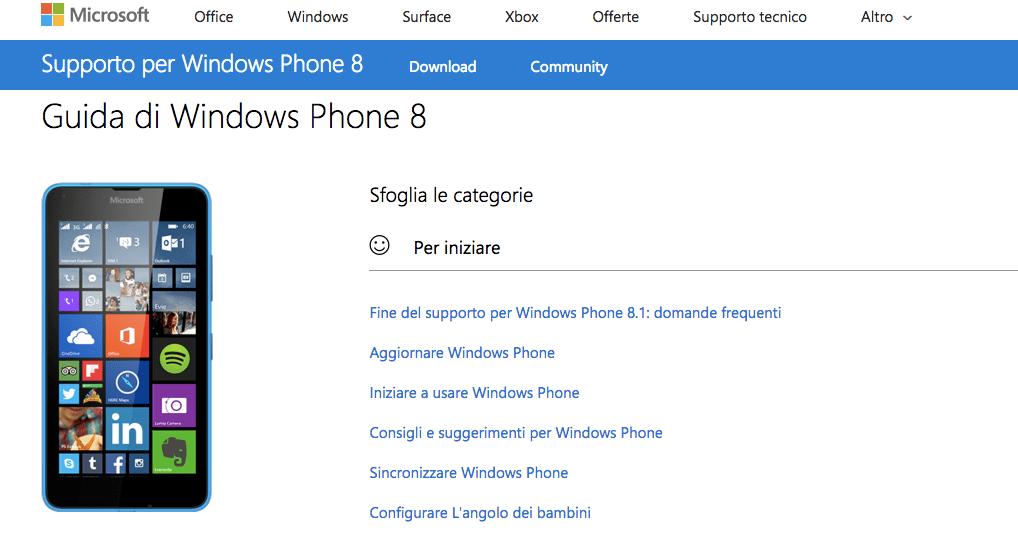 Account Microsoft Windows Phone