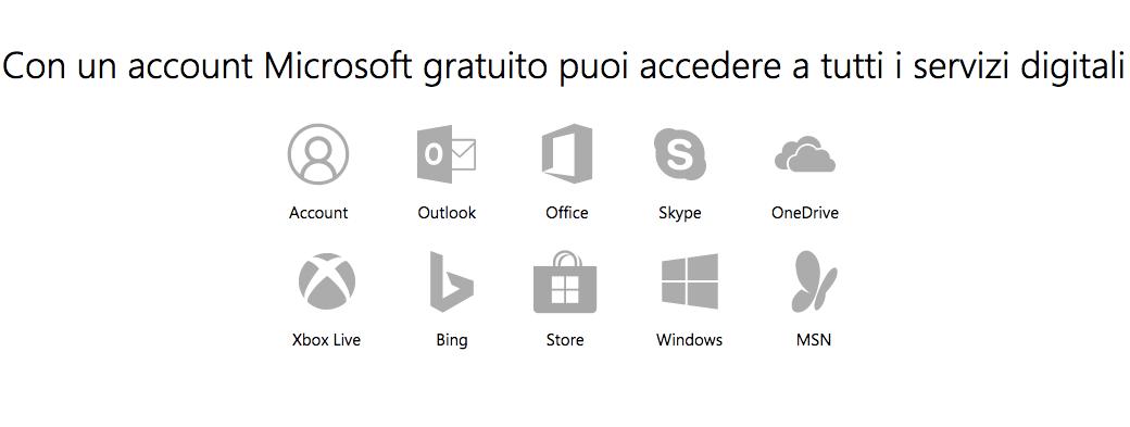 Crea Account Microsoft