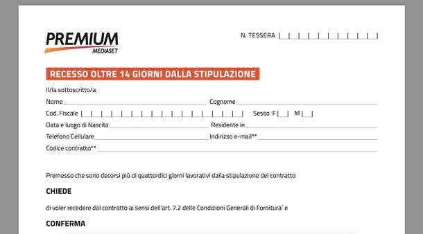 Disdetta Mediaset Premium anticipata