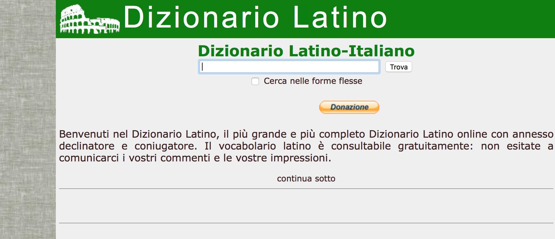 Dizionario Latino Olivetti