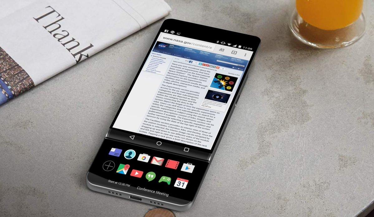 LG V30 doppio schermo