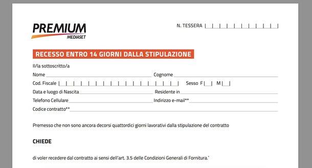 Mediaset Premium disdetta 14 giorni
