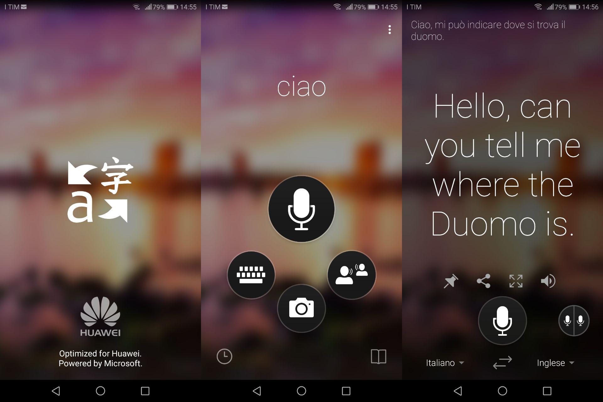 Microsoft Translator Huawei Mate 10 Pro app