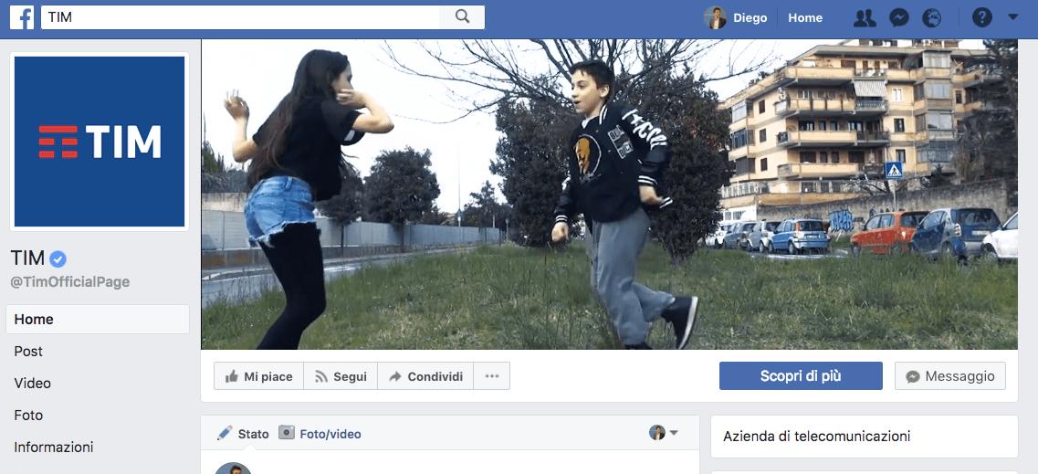 Pagina TIM FB