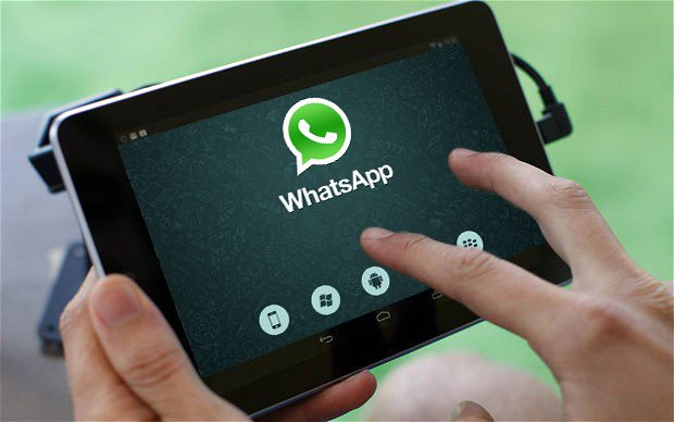 Tablet Android WhatsApp Web