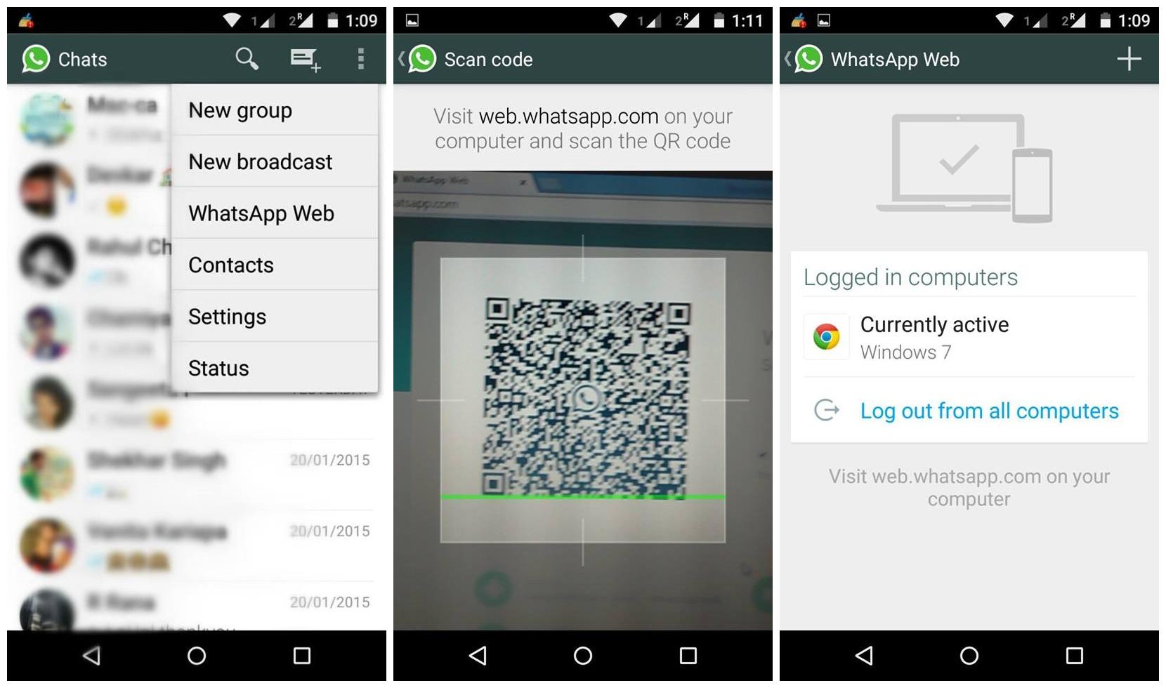 WhatsApp Web codice QR