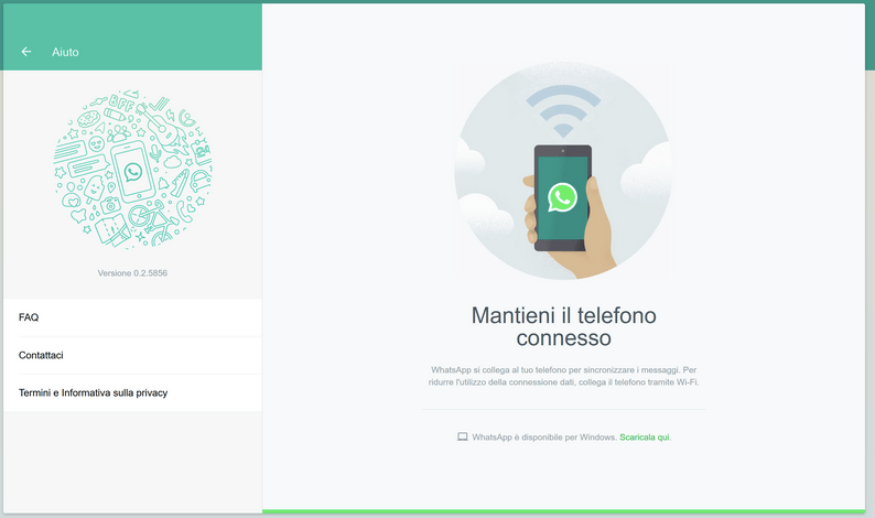 WhatsApp Web errore