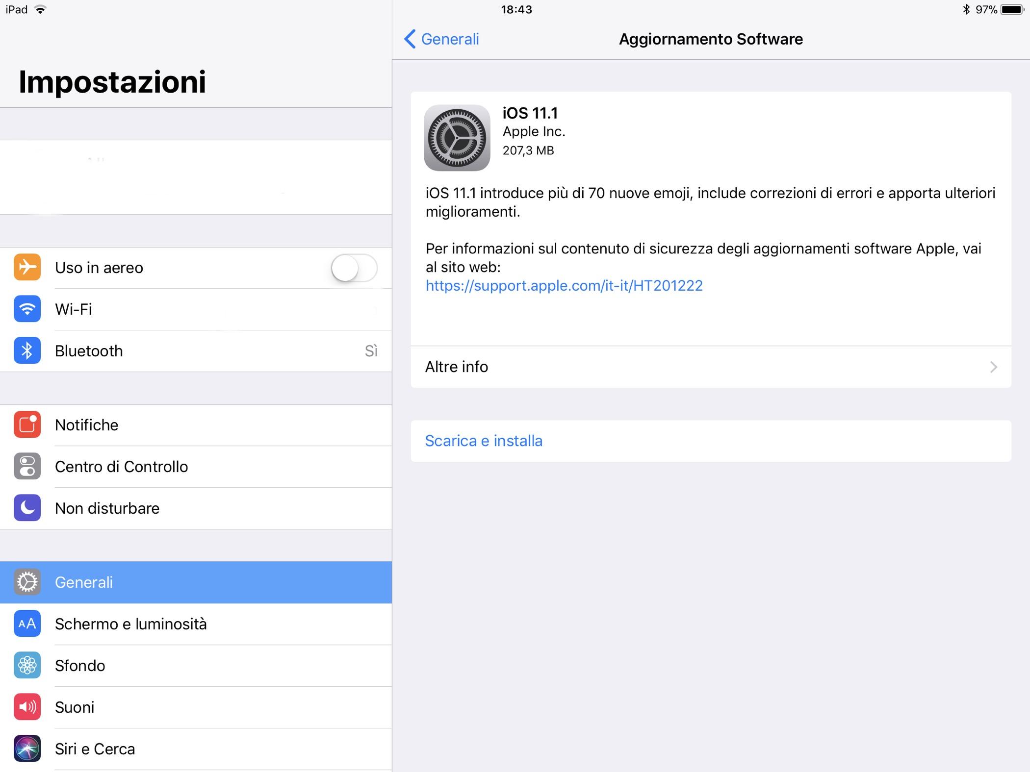 iOS 11.1 aggiornamento novità