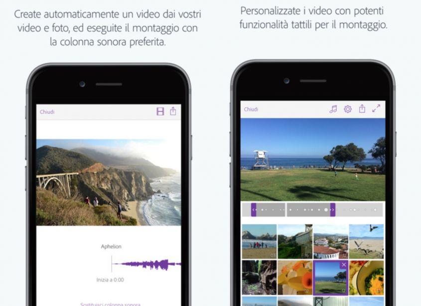 Adobe Premiere clip auguri di Buon Anno video app