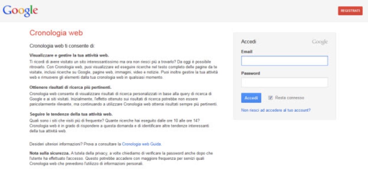 Come cancellare la cronologia di Google