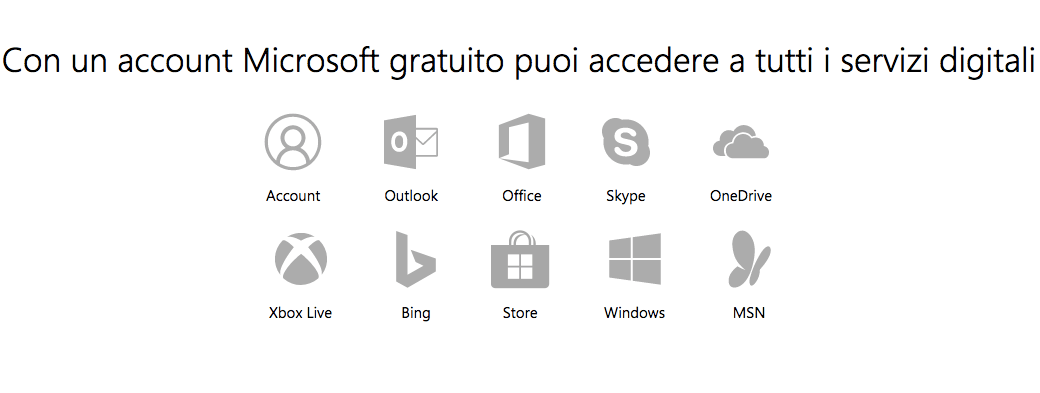 Crea Account Microsoft