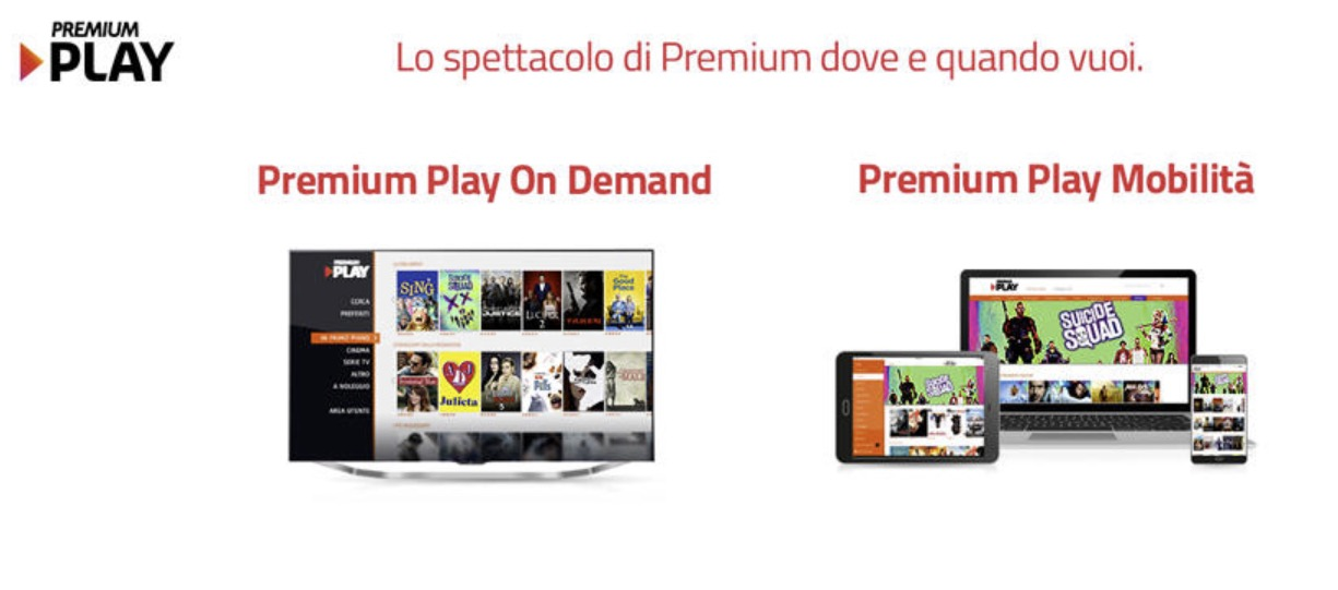 Offerta Premium Play Mediaset