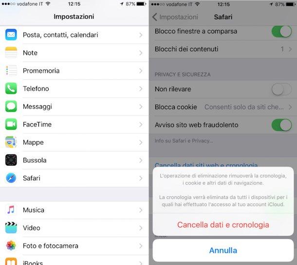 recuperare cronologia safari iphone 7 Plus