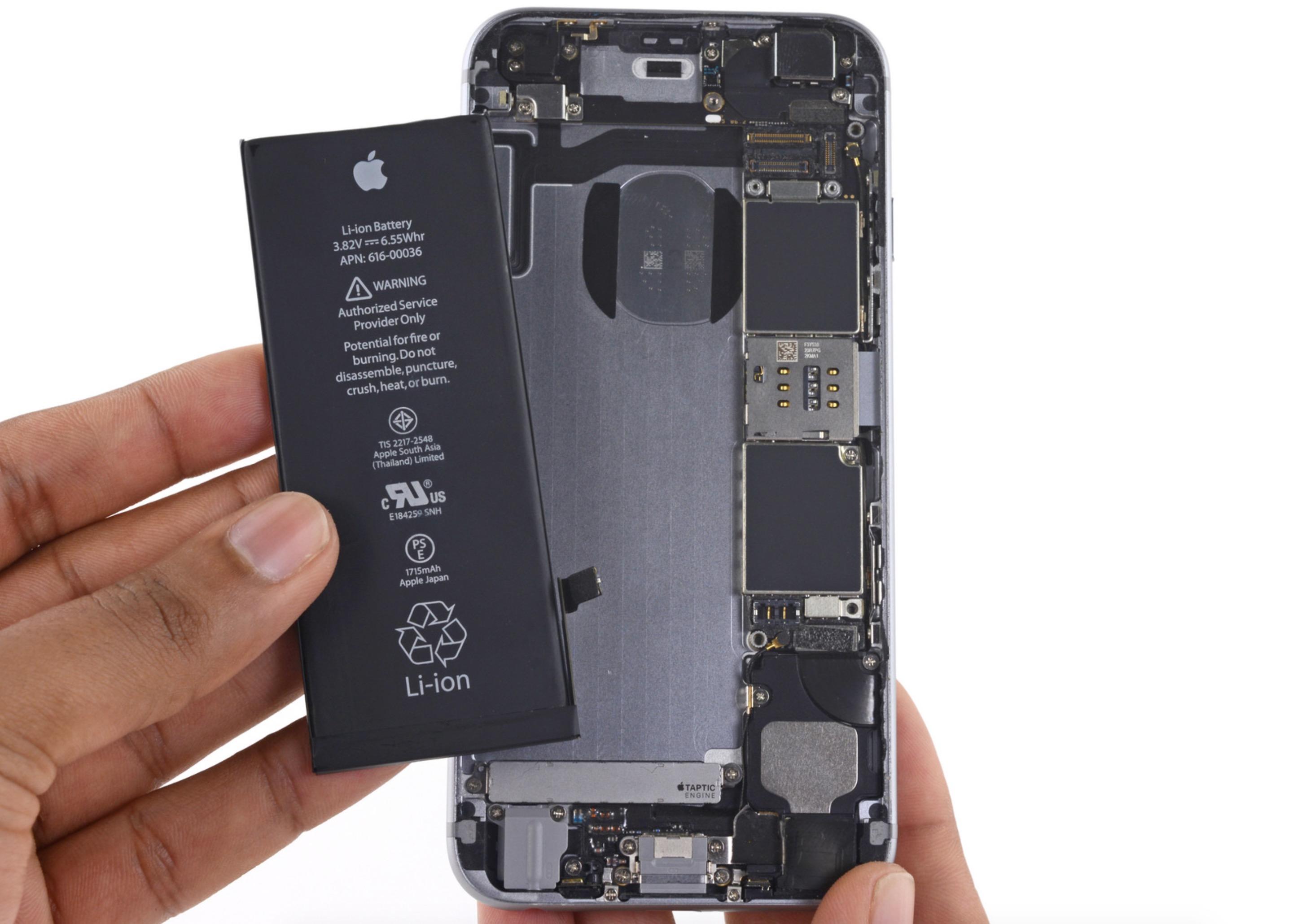 Cambiare batteria iPhone 6s