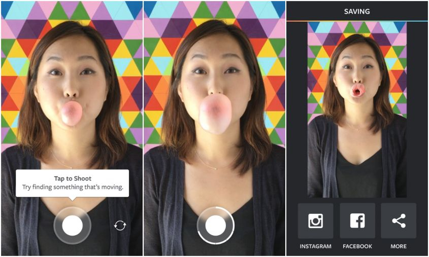 GIF Befana con Instagram Boomerang