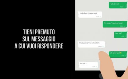 Come rispondere a un messaggio specifico su WhatsApp