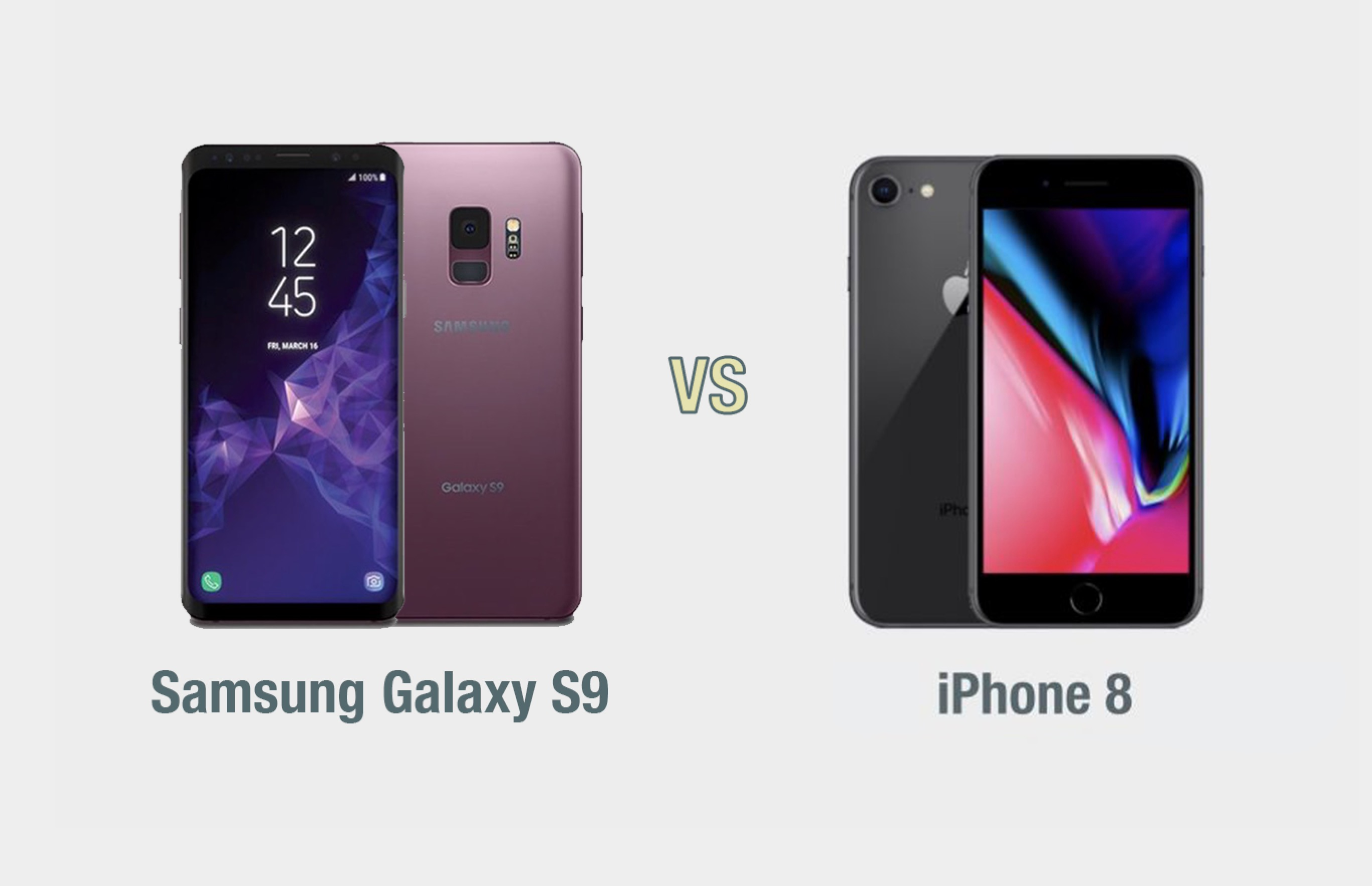 Samsung Galaxy S9 vs iPhone 8: il confronto