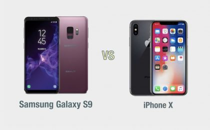 Samsung Galaxy S9 vs iPhone X: il confronto