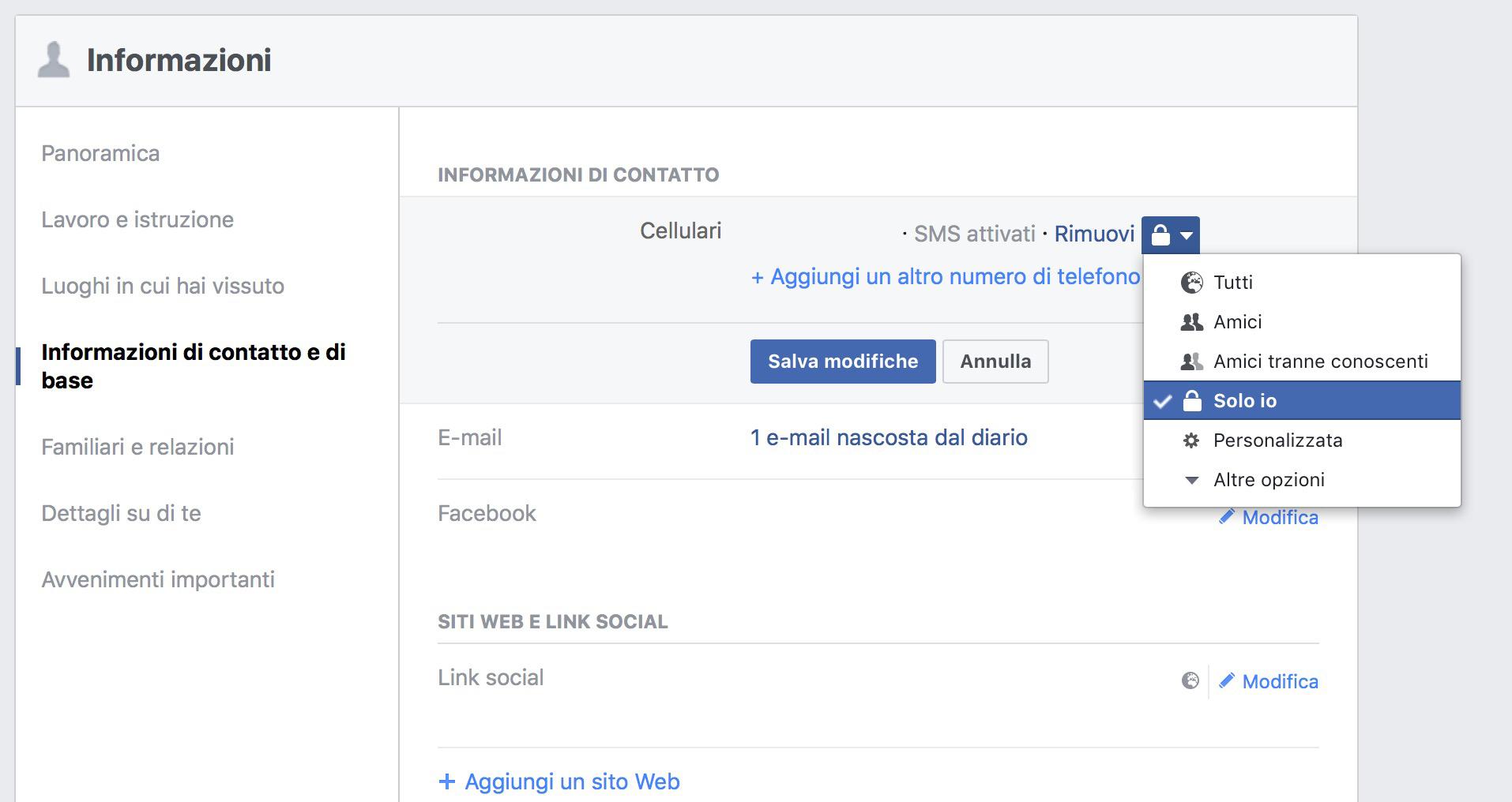 Perchè non dovete dare il numero di cellulare a Facebook