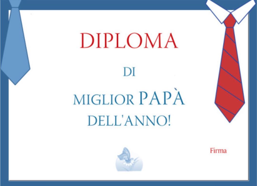 Diploma di miglior Papà dell'anno