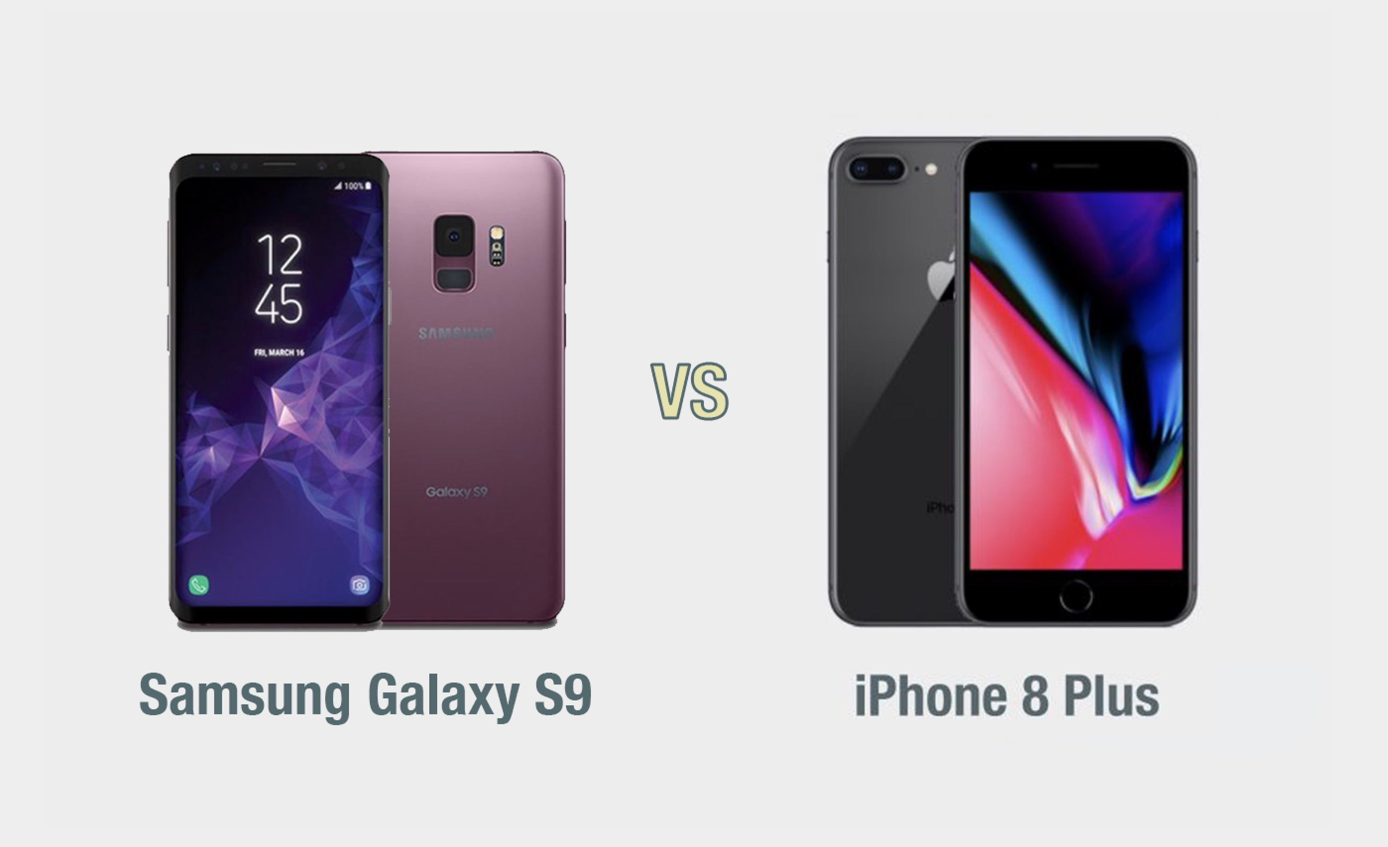 Samsung Galaxy S9 vs iPhone 8 Plus: il confronto