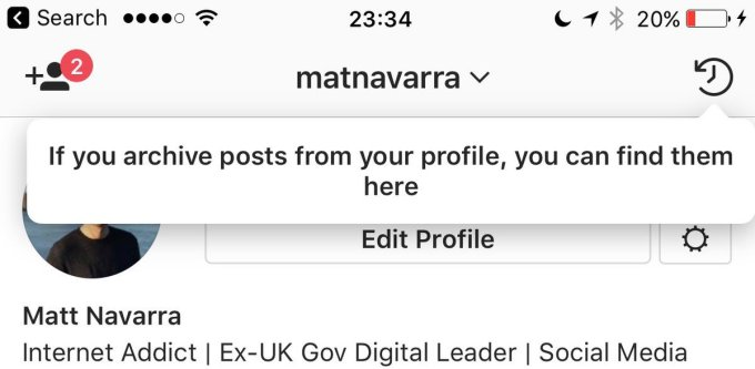 Archiviare foto Instagram