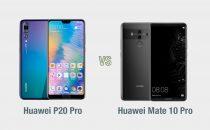 Huawei P20 Pro vs Huawei Mate 10 Pro: il confronto