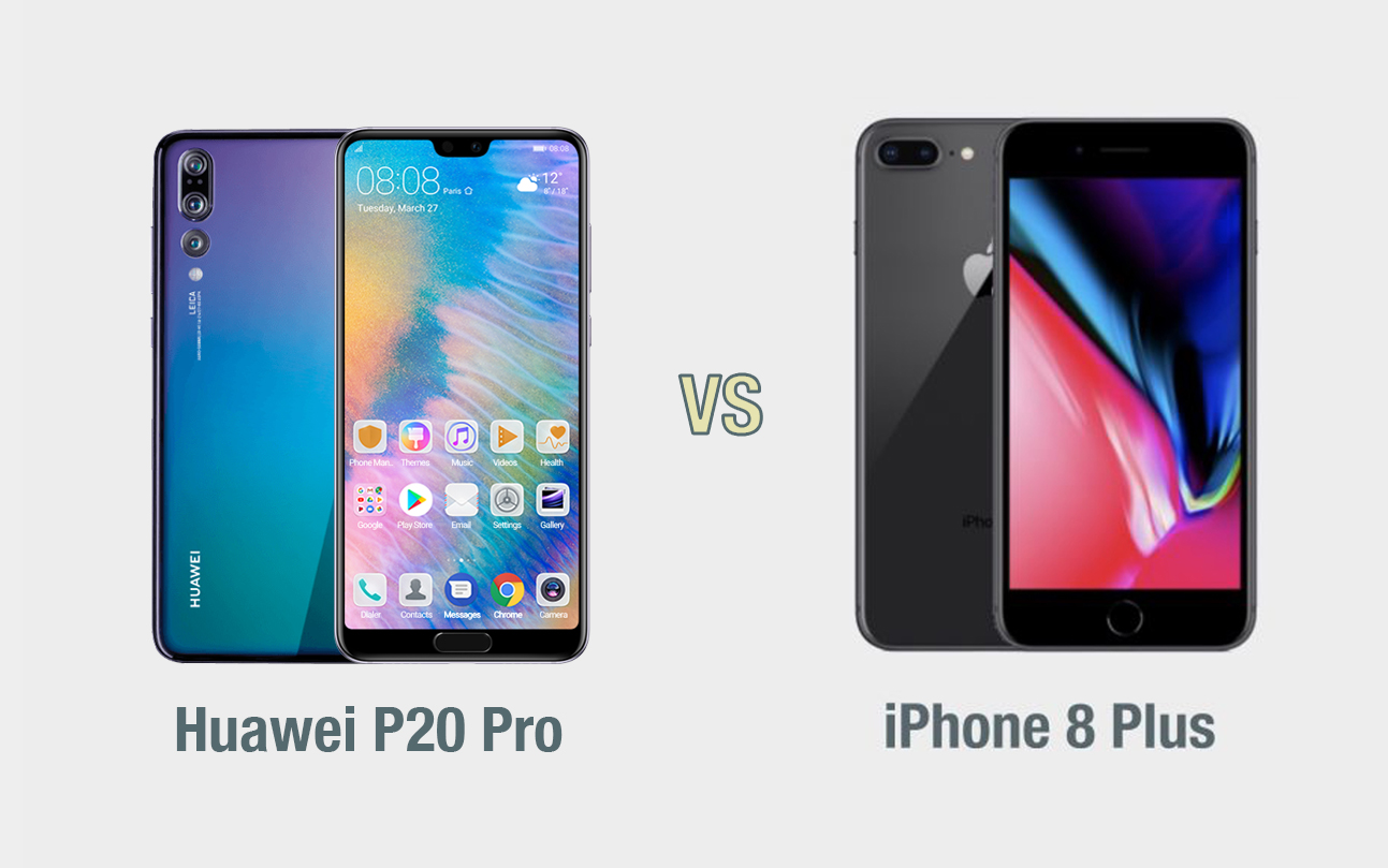 Huawei P20 Pro vs iPhone 8 Plus: il confronto