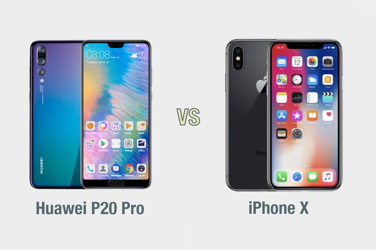 Huawei P20 Pro vs iPhone X: il confronto