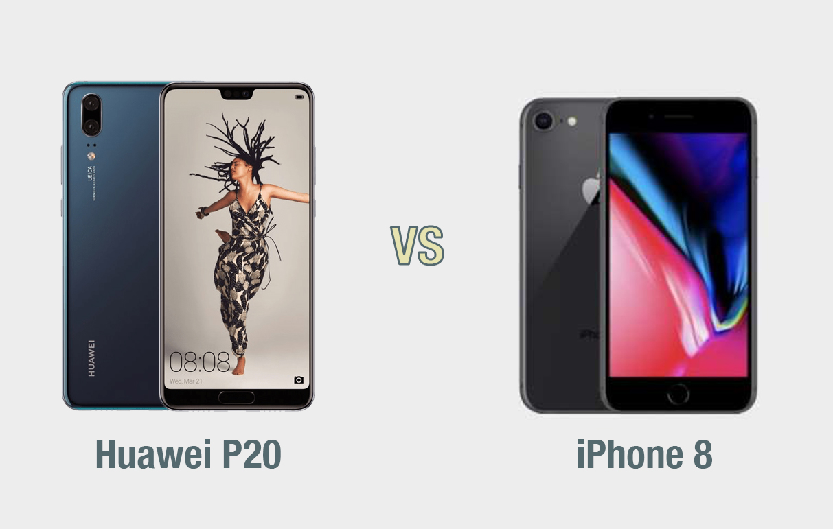 Huawei P20 vs iPhone 8: il confronto